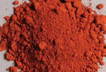 colori minerali naturali: ocra rossa