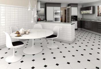 Czarno-biała podłoga we wnętrzu: jak obliczenia. Czarno-biała podłoga w łazience iw kuchni