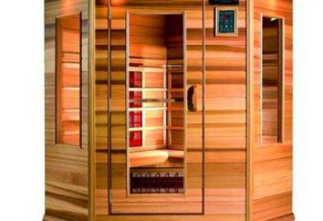 Sauna infrarouge pour la perte de poids. Les avis et les effets