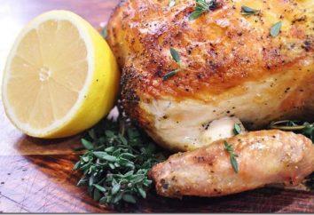 Délicieux poulet cuire au four dans le bras