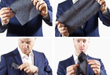 Comment plier un mouchoir dans sa poche de veste: photo