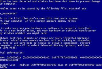 MEMORY_MANAGEMENT (Windows 10), błąd: jak naprawić, instrukcje i zalecenia