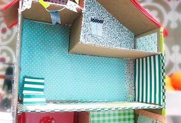 Puppenhaus aus Karton mit den Händen: eine wenig Geduld, und das Meisterwerk ist fertig
