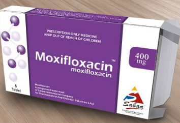 """""""moxifloxacina"""": istruzioni per l'uso, descrizione, composizione"""