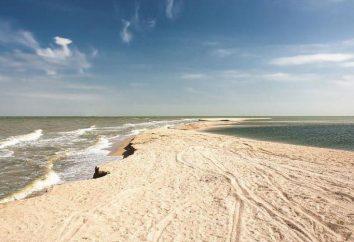 Dolzhanskaya spit, Azov mar: praias, centros recreativos