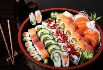 Tipi e nomi di rulli e sushi. Descrizione, soprattutto la cucina, le foto