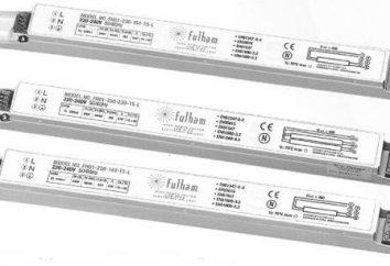 um circuito balastro electrónico para lâmpadas fluorescentes. O princípio de funcionamento de lâmpadas fluorescentes
