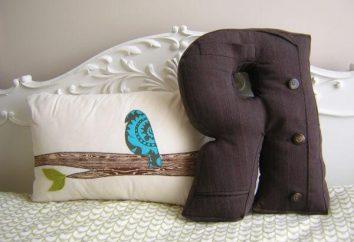 Jak uszyć poduszkę-litery ręcznie. Poduszki litery – to wielki dar