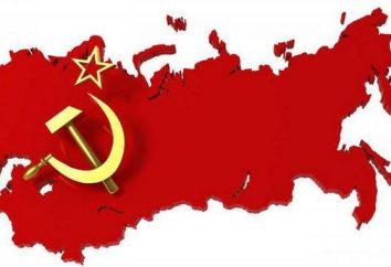 """""""La formación del Estado soviético"""" mesa. La formación del Estado soviético: brevemente sobre los principales"""