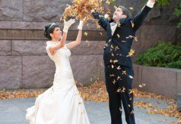 Hochzeit im November: die Zeichen. Zeichen vor der Hochzeit für die Braut und Bräutigam