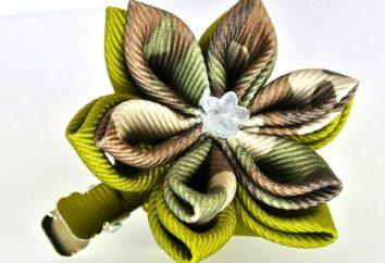 Como fazer flores de fitas