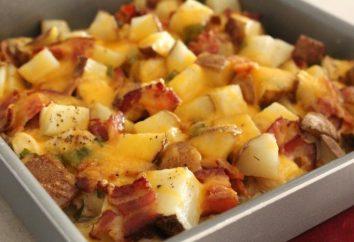 Comment délicieux pommes de terre cuites au four avec du poulet