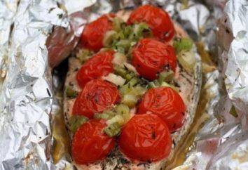 Como saudável e delicioso salmão em folha cozido no forno?