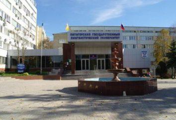 Pyatigorsk State University językowa (Pyatigorsk State University językowa): Adres, wydziały, specjalności, z jednoczesnym wynik