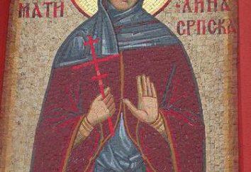 Reverendo San Angelina di Serbia (Branković). Nome del giorno Angelina