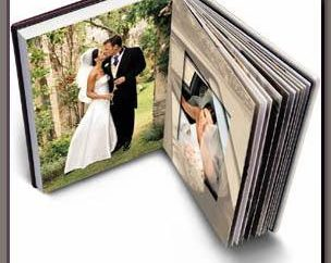 Artesanais de casamento álbum de fotos