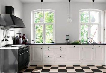 cucina in bianco e nero. La magia del colore