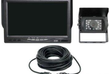Caméra de recul avec un miroir et un enregistreur vidéo
