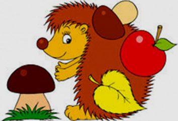 Riddle au sujet d'un hérisson pour les enfants ne doivent pas être fausses informations!