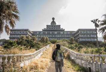 Abbandonato albergo Khatidze sull'isola. Giappone, che ancora non conosciamo