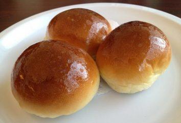 Bun casa: receta. bollos dulces curvas. tartas caseras: recetas con fotos