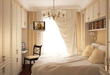 Interior de um quarto na Khrushchev. Mobiliário para quarto