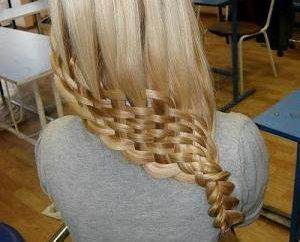 técnica de tranças de tecelagem – um penteado bonito para cada dia.