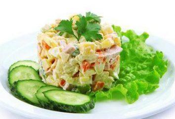 Salade de concombre et saucisse: recettes avec du sel et des concombres frais