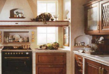 Classique éternelle. intérieur de la cuisine dans un style classique