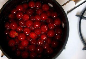 Algunas recetas, cómo cocinar compota de cerezas