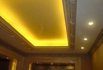 renovação bonita e moderna do teto no apartamento