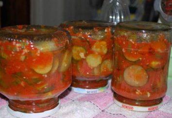 Home Ogórki w sosie pomidorowym