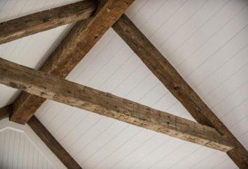Dekoracyjne belki sufitowe z poliuretanu, drewno. Montaż ozdobnymi belkami na suficie z rękami