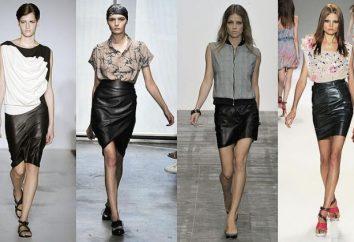 Que porter la jupe en cuir: quelques idées