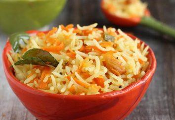 Riso con cipolle e carote. ricetta