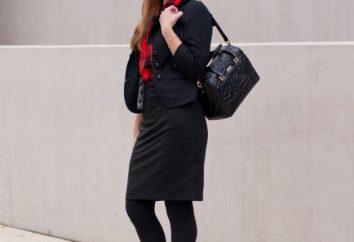 elegante combinação: meias pretas com saia preta