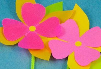 Dzieci aplikacja kwiaty. Uczymy dzieci, aby tworzyć piękno z rękami