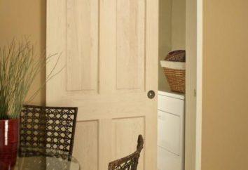 drzwi przesuwne w ścianie: korzyści, różnorodność