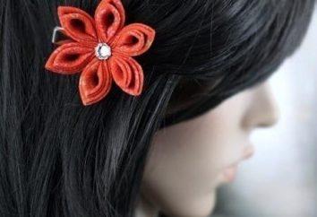 W technice KANZASHI Roses – doskonała do dekoracji włosów