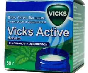 """""""Vicks Attivo"""" (melissa): istruzioni per l'uso. """"Vicks attivo"""" (balsamo) analoghi e recensioni"""