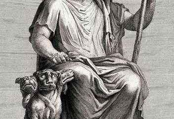 Starogrecki bóg Hades. Symbole boga Hadesa