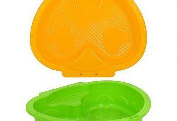 piaskownica dla dzieci wykonana z tworzywa sztucznego