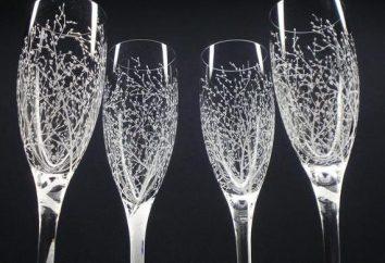 Grabado en los vasos: elegante, original y muy bien