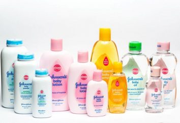 """Productos de marca """"Dzhonson Bebi"""": aceite, champú, gel de ducha"""