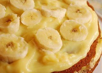 Banan ciasto: przepis na prosty lakomtsva herbaty