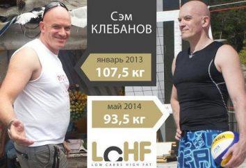 Sam Klebanov, dieta para perda de peso: apresenta receitas e eficiência