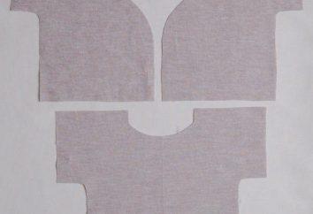 Undershirts para bebés: teste padrão, processamento e modelirrovanie
