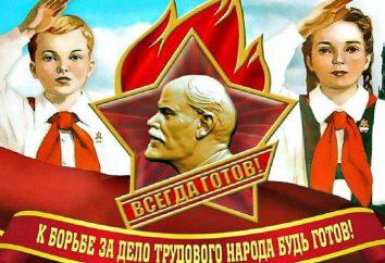 La devise des pionniers. Une promesse solennelle de pionnier. Pionniers soviétiques