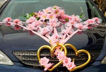 dekoracja samochodu do ślubu: niektóre zalecenia