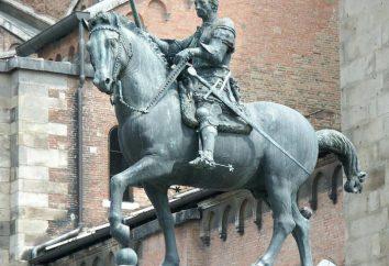 Statue équestre de condottiere Gattamelata. Donatello, Monument condottiere Gattamelata